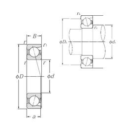 150 mm x 225 mm x 35 mm  NTN 7030 Cojinetes De Bola De Contacto Angular