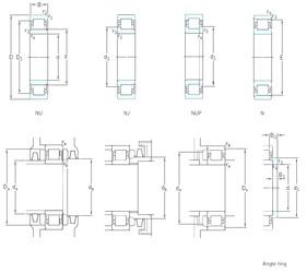 25 mm x 62 mm x 24 mm  SKF NUP2305ECP Rodamientos De Rodillos