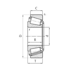 28 mm x 57 mm x 17 mm  KOYO ST2857-N Rodamientos De Rodillos Cónicos