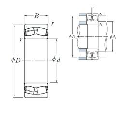 25 mm x 52 mm x 18 mm  NSK 22205CE4 Rodamientos De Rodillos Esféricos