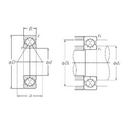 100 mm x 180 mm x 34 mm  NTN QJ220 Cojinetes De Bola De Contacto Angular