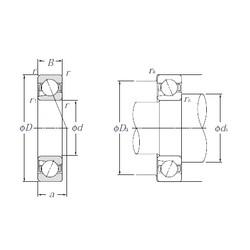 25 mm x 52 mm x 15 mm  NTN BNT205 Cojinetes De Bola De Contacto Angular