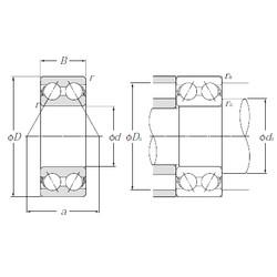 55 mm x 100 mm x 33,3 mm  NTN 5211S Cojinetes De Bola De Contacto Angular