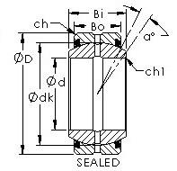 AST GEZ114ES-2RS Rodamientos Deslizantes