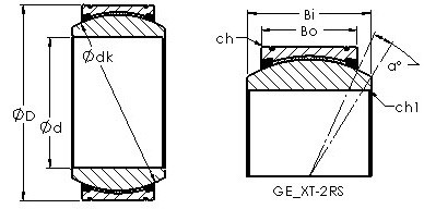 AST GE240XT-2RS Rodamientos Deslizantes