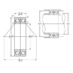 140 mm x 190 mm x 22,5 mm  NTN HTA928DB Cojinetes De Bola De Contacto Angular