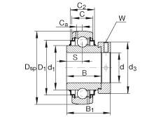 INA G1100-KRR-B-AS2/V Cojinetes de bolas profundas