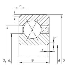 8 inch x 254 mm x 25,4 mm  INA CSXG080 Cojinetes de bolas profundas