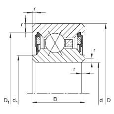 10 inch x 273,05 mm x 12,7 mm  INA CSXU100-2RS Cojinetes de bolas profundas