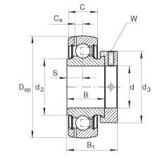 INA GRAE50-NPP-B-FA125.5 Cojinetes de bolas profundas
