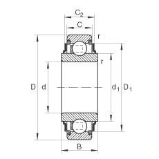 17 mm x 40 mm x 18,3 mm  INA 203-KRR Cojinetes de bolas profundas