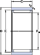 SKF RNAO 40x50x17 Rodamientos De Rodillos