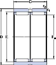 SKF RNAO 40x50x34 Rodamientos De Rodillos