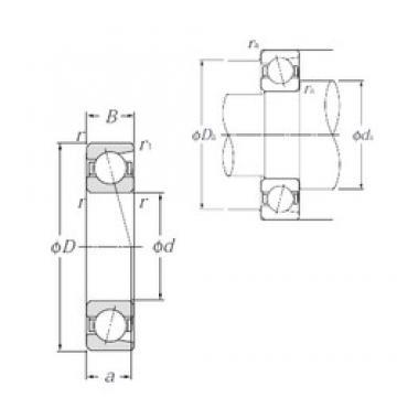 100 mm x 215 mm x 47 mm  NTN 7320B Cojinetes De Bola De Contacto Angular