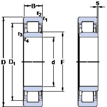 100 mm x 215 mm x 47 mm  SKF NU 320 ECM/C3VL0241 Rodamientos De Rodillos