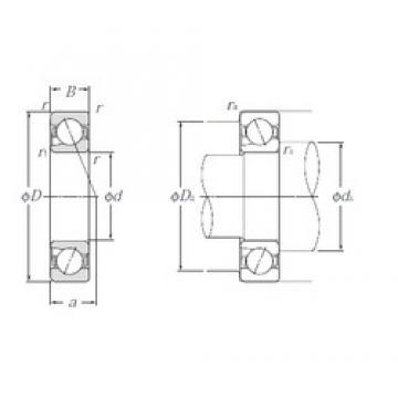 45 mm x 85 mm x 19 mm  NTN 5S-BNT209 Cojinetes De Bola De Contacto Angular