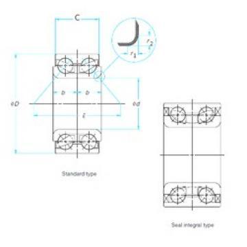 38 mm x 70 mm x 38 mm  NTN AU0855-1LLX/L588 Cojinetes De Bola De Contacto Angular