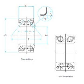 42 mm x 80 mm x 45 mm  NTN 2B-DE08A11 Cojinetes De Bola De Contacto Angular