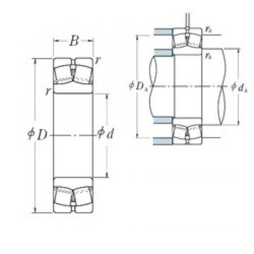 120 mm x 215 mm x 58 mm  NSK 22224EAE4 Rodamientos De Rodillos Esféricos