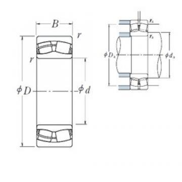 110 mm x 180 mm x 69 mm  NSK 24122CE4 Rodamientos De Rodillos Esféricos