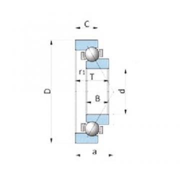 NTN SF4444VP-1 Cojinetes De Bola De Contacto Angular