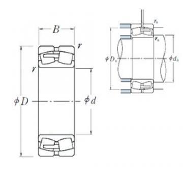 800 mm x 1150 mm x 345 mm  NSK 240/800CAE4 Rodamientos De Rodillos Esféricos