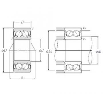 25 mm x 62 mm x 25,4 mm  NTN 5305SCLLM Cojinetes De Bola De Contacto Angular