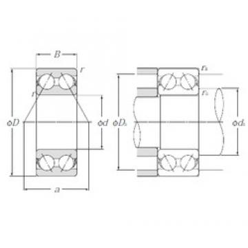 17 mm x 47 mm x 22,2 mm  NTN 5303S Cojinetes De Bola De Contacto Angular