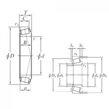 234,95 mm x 314,325 mm x 49,213 mm  KOYO LM545849/LM545810 Rodamientos De Rodillos Cónicos