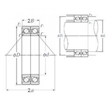 120 mm x 180 mm x 27 mm  NTN HTA024DB Cojinetes De Bola De Contacto Angular