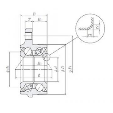 43 mm x 83 mm x 47,5 mm  NTN HUB100-7 Cojinetes De Bola De Contacto Angular