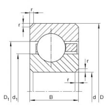 4 1/4 inch x 120,65 mm x 6,35 mm  INA CSCA042 Cojinetes de bolas profundas