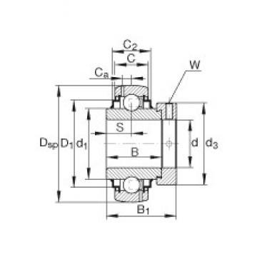 INA G1207-KRR-B-AS2/V Cojinetes de bolas profundas