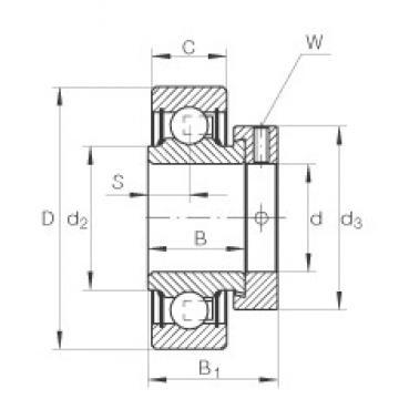 1 inch x 52 mm x 21,4 mm  INA RA100-NPP Cojinetes de bolas profundas