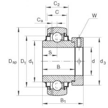INA GE35-KLL-B Cojinetes de bolas profundas