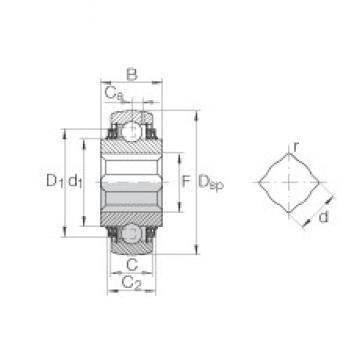 INA GVK109-211-KTT-B-AS2/V Cojinetes de bolas profundas