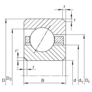 5 1/2 inch x 152,4 mm x 6,35 mm  INA CSEA055 Cojinetes de bolas profundas