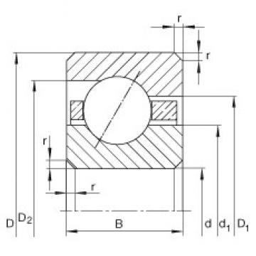 5 1/2 inch x 158,75 mm x 9,525 mm  INA CSEC055 Cojinetes de bolas profundas