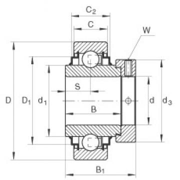 45 mm x 85 mm x 42,9 mm  INA E45-KRR Cojinetes de bolas profundas