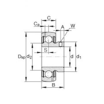 INA GAY108-NPP-B-AS2/V Cojinetes de bolas profundas