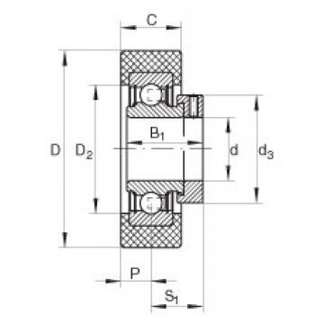 INA RCSMB25/65-FA106 Cojinetes de bolas profundas