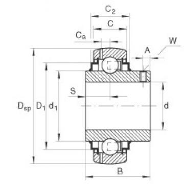 INA GYE55-KRR-B Cojinetes de bolas profundas
