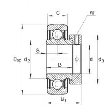INA RA104-206-NPP-B Cojinetes de bolas profundas