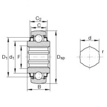 INA SKE17-204-KRR-B Cojinetes de bolas profundas