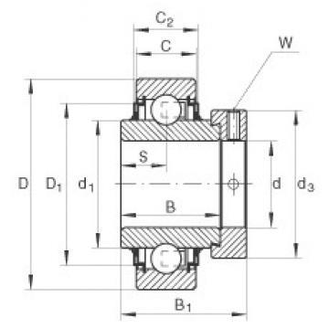 20 mm x 47 mm x 34,1 mm  INA E20-KLL Cojinetes de bolas profundas
