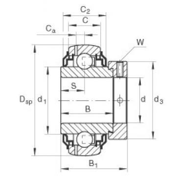 INA GE30-KRR-B-2C Cojinetes de bolas profundas