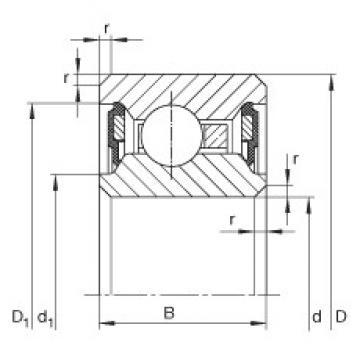 7 1/2 inch x 209,55 mm x 12,7 mm  INA CSCU075-2RS Cojinetes de bolas profundas