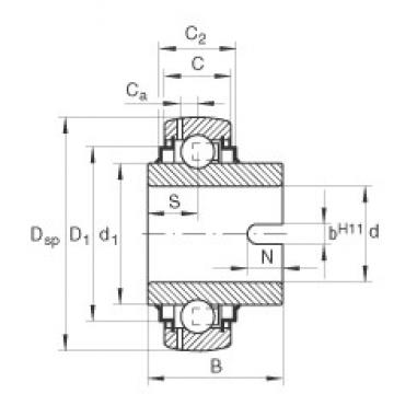 INA GLE70-KRR-B Cojinetes de bolas profundas