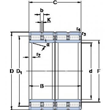 850 mm x 1180 mm x 850 mm  SKF BC4-8021/HB1 Rodamientos De Rodillos