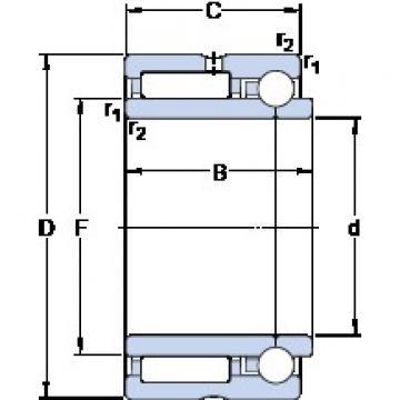 70 mm x 100 mm x 45 mm  SKF NKIB 5914 Rodamientos De Rodillos